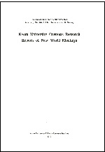 Kyoto University overseas research reports of new world monkeys